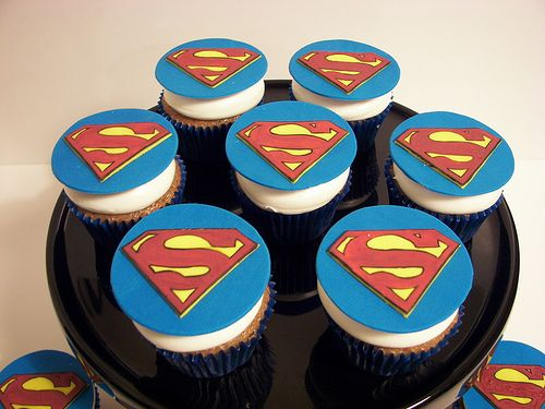superman cupcakes Kids Birthday Party Ideas Pinterest