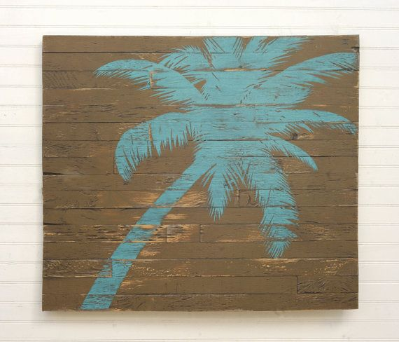 Pallet Palm Tree Wooden Beach Wall Decor Boho By Havenamerica