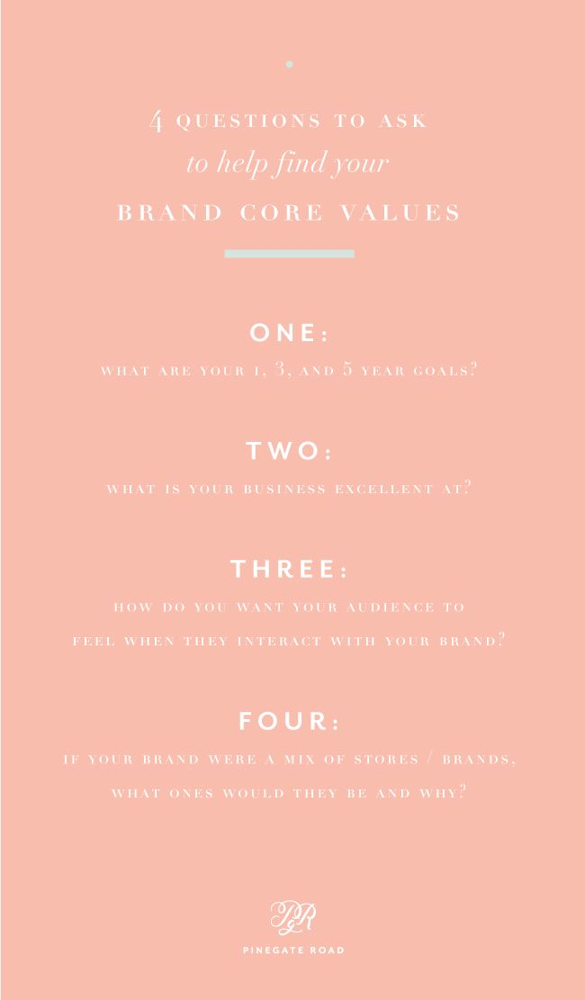 4 Questions To Ask To Help Find Your Brand S Core Values This Or That Questions Finding Yourself Core Values