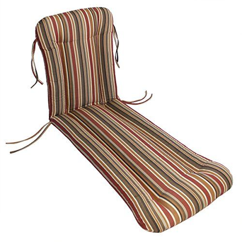 Sunbrella Outdoor Wrought Iron Chaise Cushion By Comfort Classics