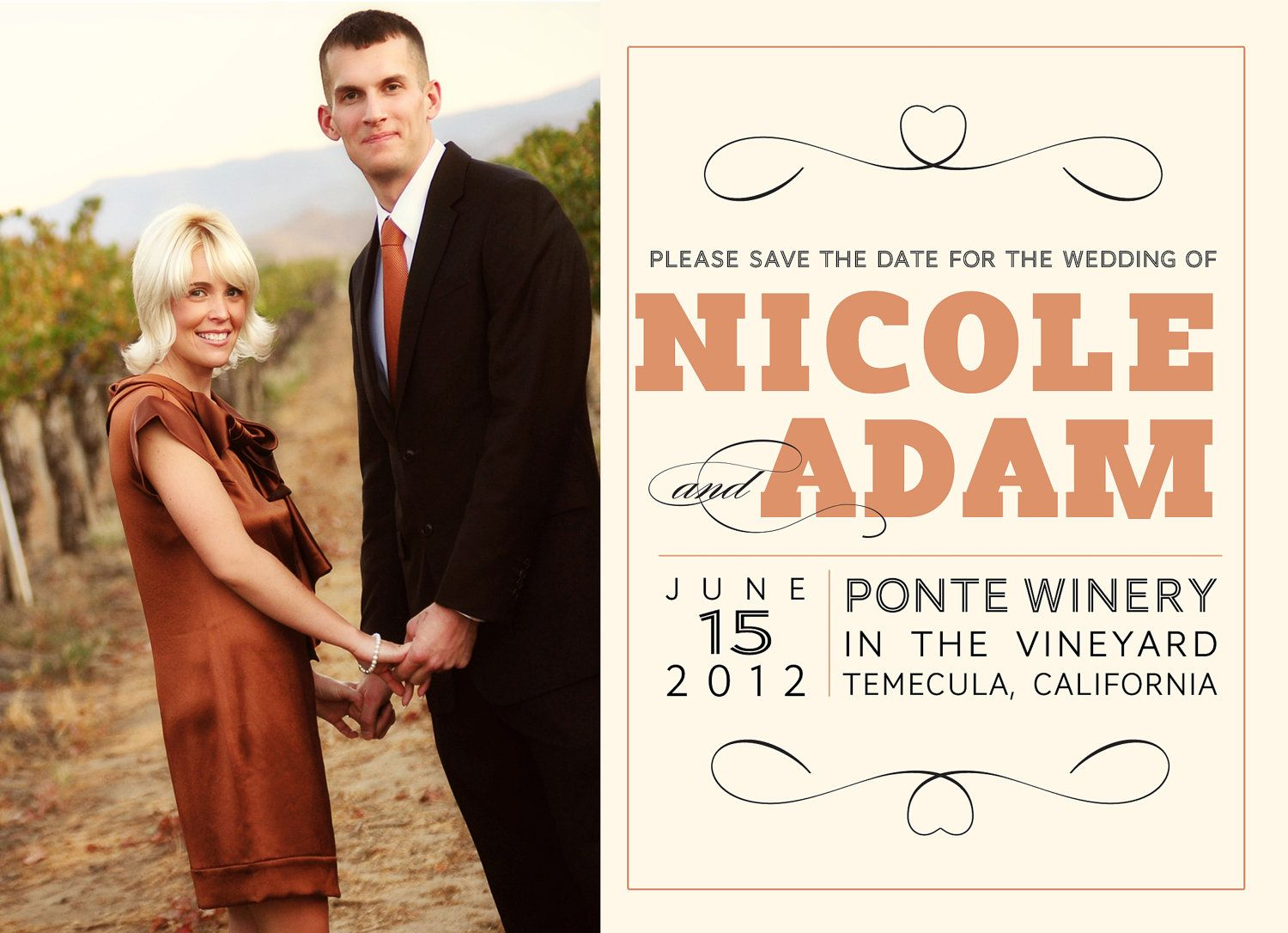 Save the Date photoshop card template for photographers - Squared Save the Date. $8.00, via Etsy.