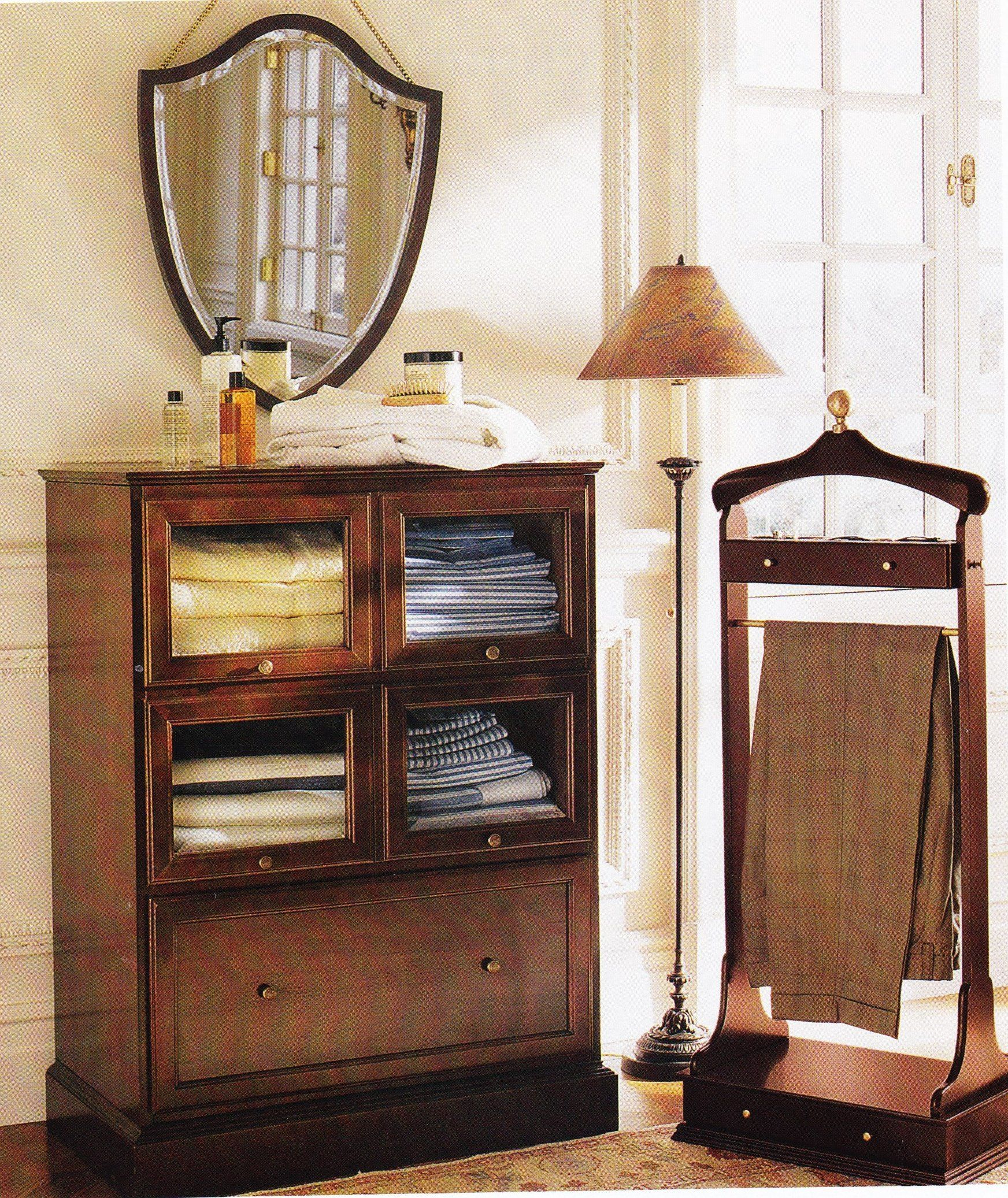 Haberdasheru0027s Dressing Cabinet And Hepplewhite Shield Mirror From The Old  Bombay Company (1997)