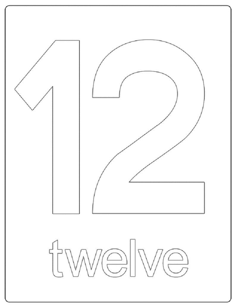 Number 12 Worksheets For Beginners Printable Numbers Numbers Preschool Worksheets For Kids [ 1035 x 800 Pixel ]