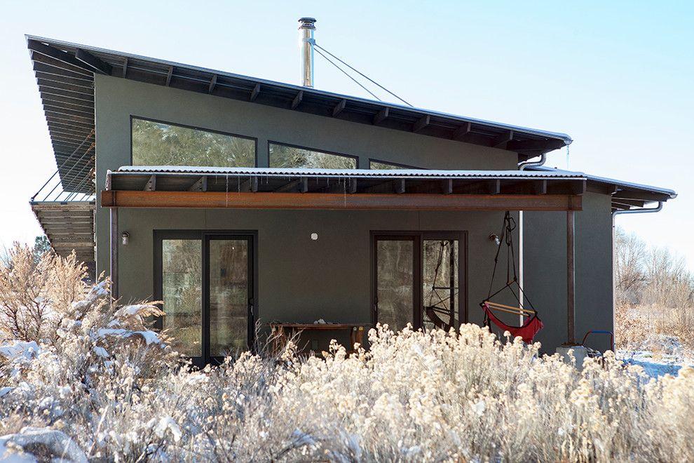 Inspired Hammock Chairs Method Albuquerque Contemporary Exterior Innovative Designs With Black Window Trim Clerestory Windows Corrugated