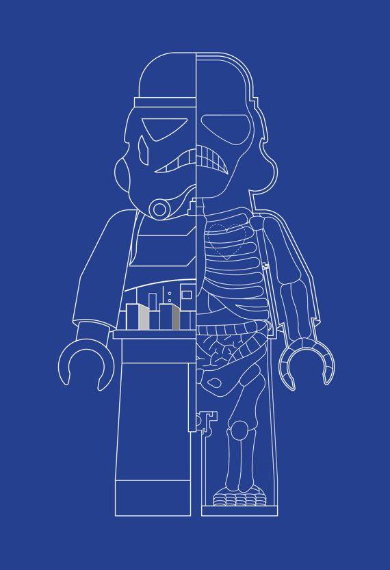 Stormtrooper star wars inspired lego man xray art by bardaron stormtrooper star wars inspired lego man xray art by bardaron 2900 malvernweather Choice Image