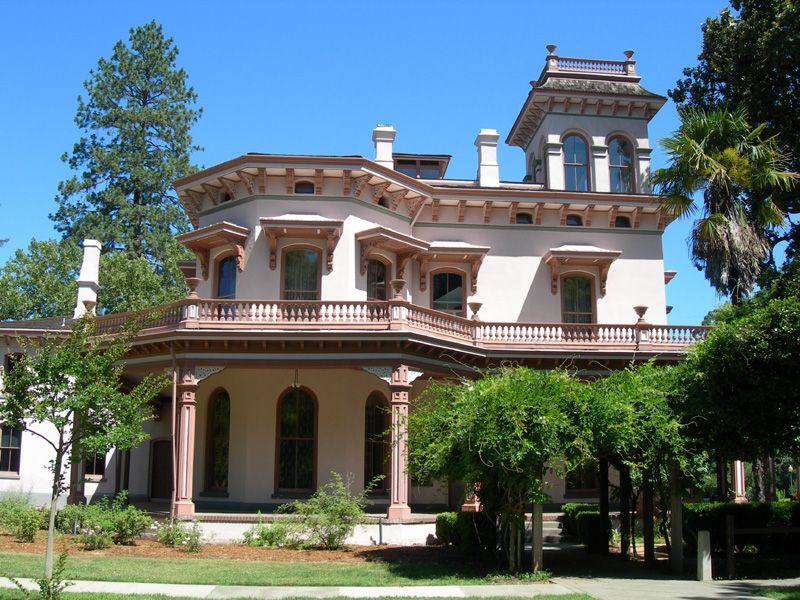 Bidwell mansion state historic park is a beautiful three for 3 story victorian house