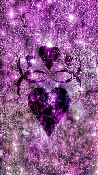 Purple Heart Wallpaper Heart Wallpaper Diamond Wallpaper