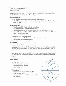 Global Wind Patterns Worksheet Elegant Global Wind ...