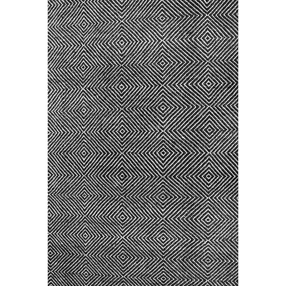 Nuloom Ago 10 X 14 Area Rug In Black Area Rugs Area Rug Sizes