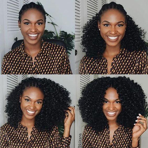 Curly Crochet Hair Style Looks #crochetbraids