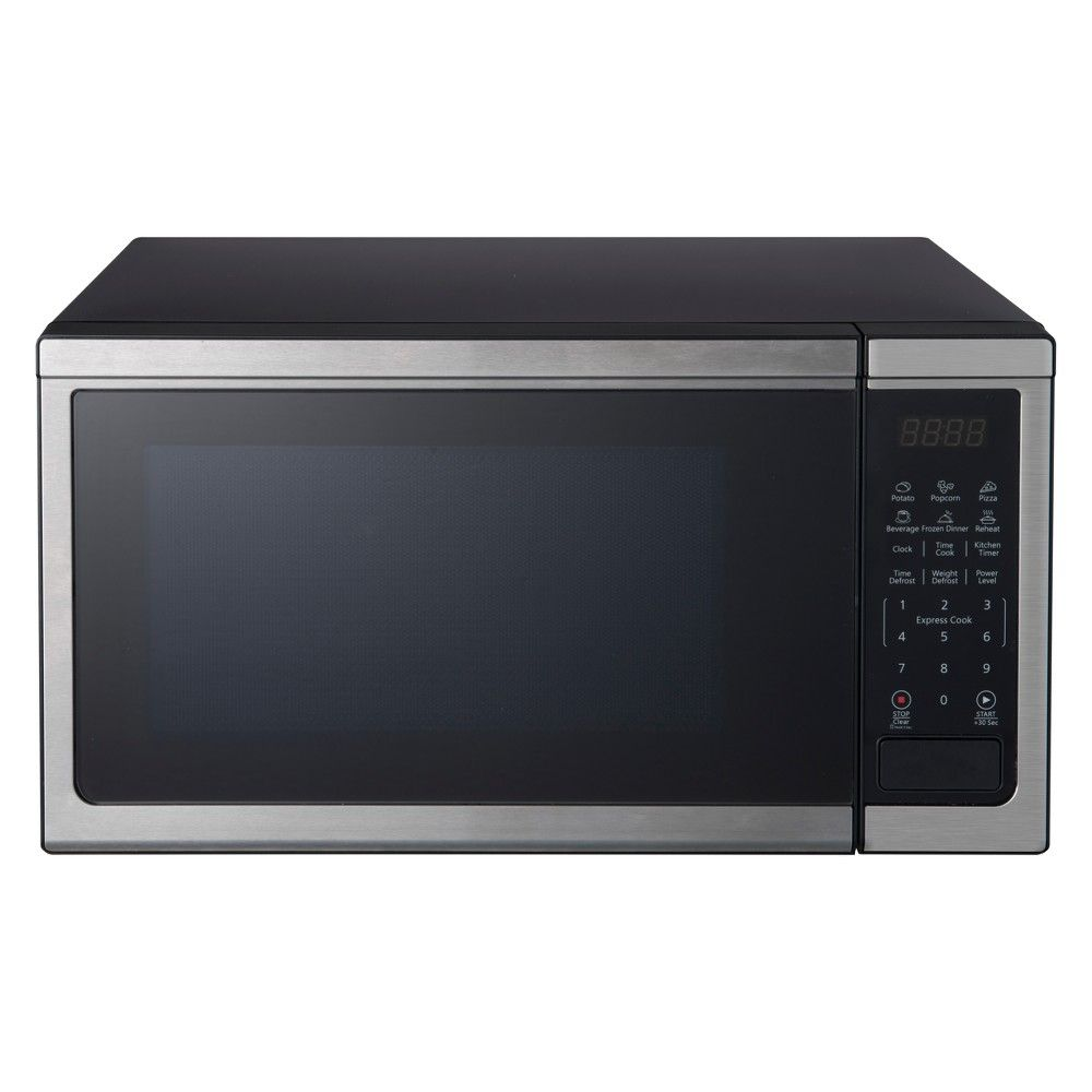 Oster 1 1 Cu Ft 1000w Microwave Stainless Steel Ogcmdm11s2 10 Stainless Steel Microwave Countertop Microwave