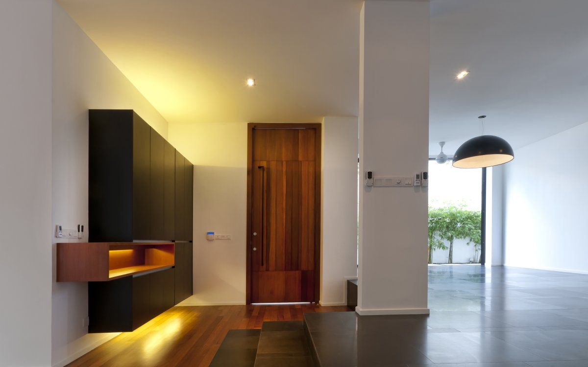 House design entrance - Entrance Front Door Hall Lighting Modern Home In Kuala Lumpur