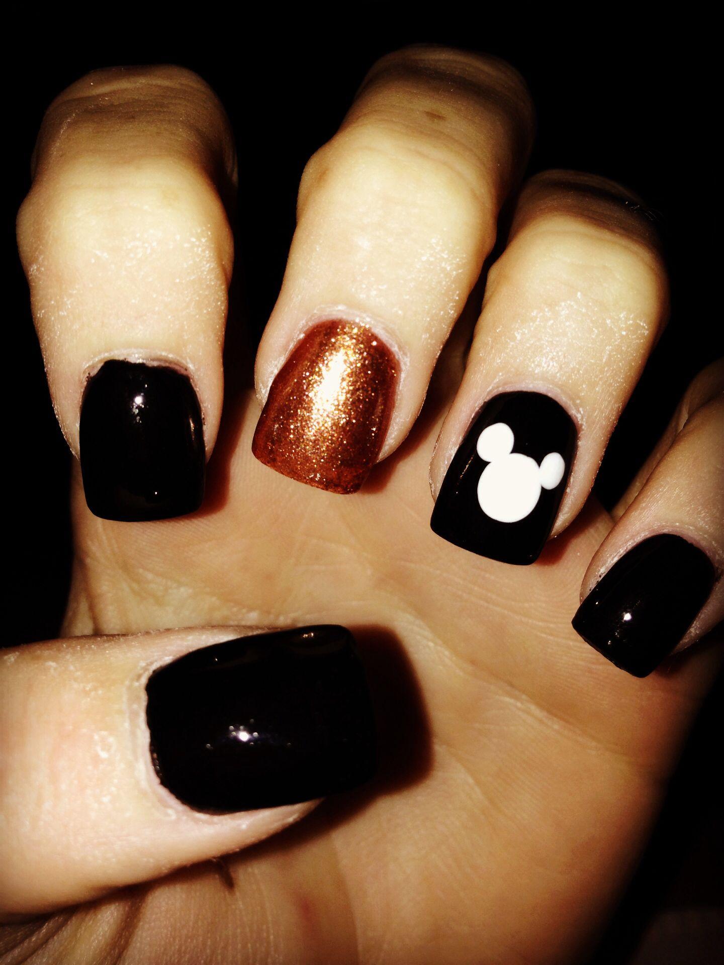 Disney Halloween Themed Nails Mickey Nails Disney Halloween Nails Disney Nails