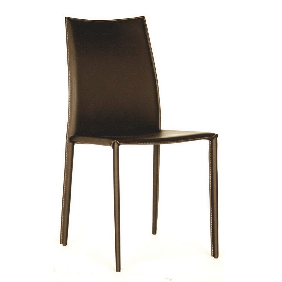 Rockford Brown Leather Dining Chair | Home Furniture»SHOP BY ROOM»KITCHEN | DINING ROOM»DINING CHAIRS