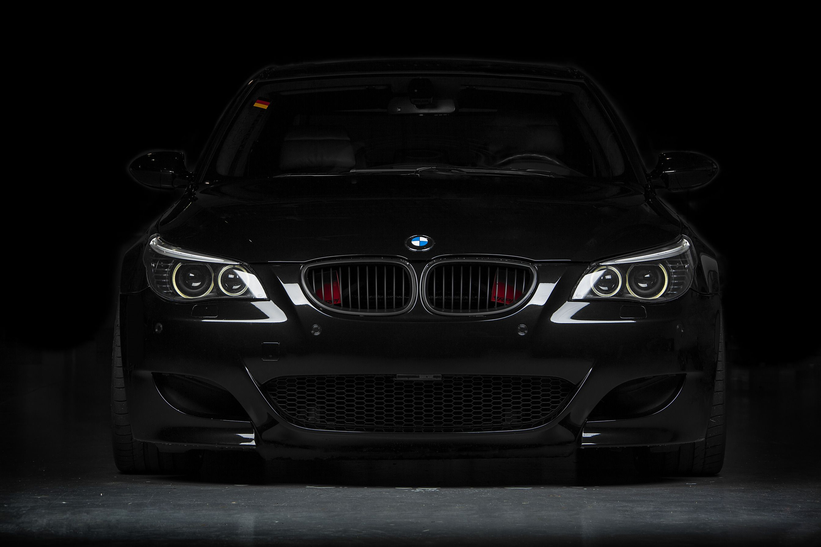 Download Wallpaper Black Bmw Bmw Black The Front E60 Section