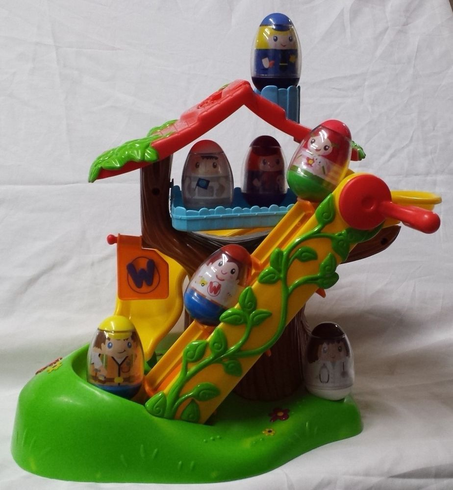 Lovely Playskool Weebles Musical Treehouse Part - 1: Playskool Weebles Musical Treehouse Playset W/Escalator, Slide U0026 7 Weebles  VGC!