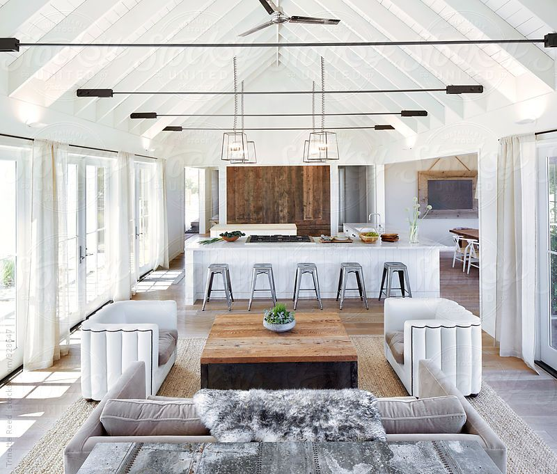 Rustic To Modern Kitchen Score: 3 Open Plan Living Room
