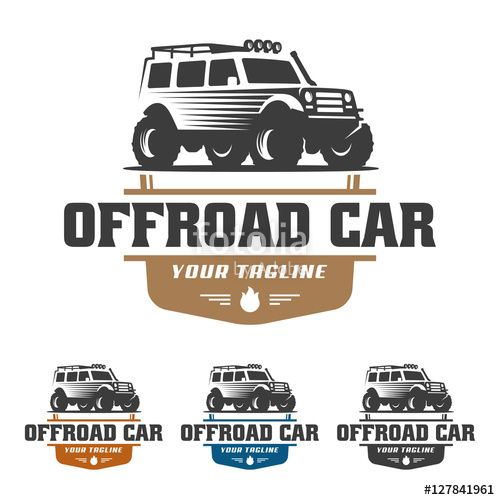 Vector Off Road Car Logo Offroad Logo Suv Car Logo Template