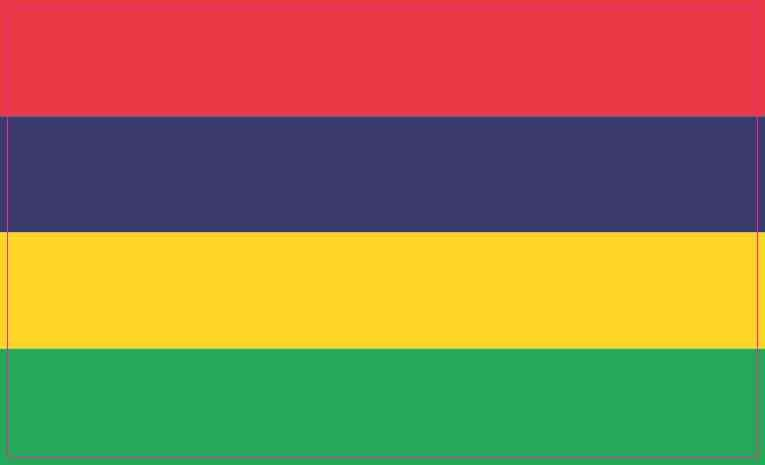 5in X 3in Mauritius Flag Sticker Vinyl Flags Vehicle Decals Decal Stickers Mauritius Mauritius Flag Flags Of The World