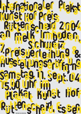 Niklaus Troxler, 2004 - Melk Imboden, Essen