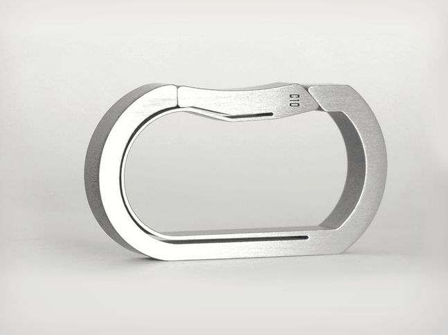 Titanium Carabiner Key Rings | Cool Material  Cut from a single piece of titanium.