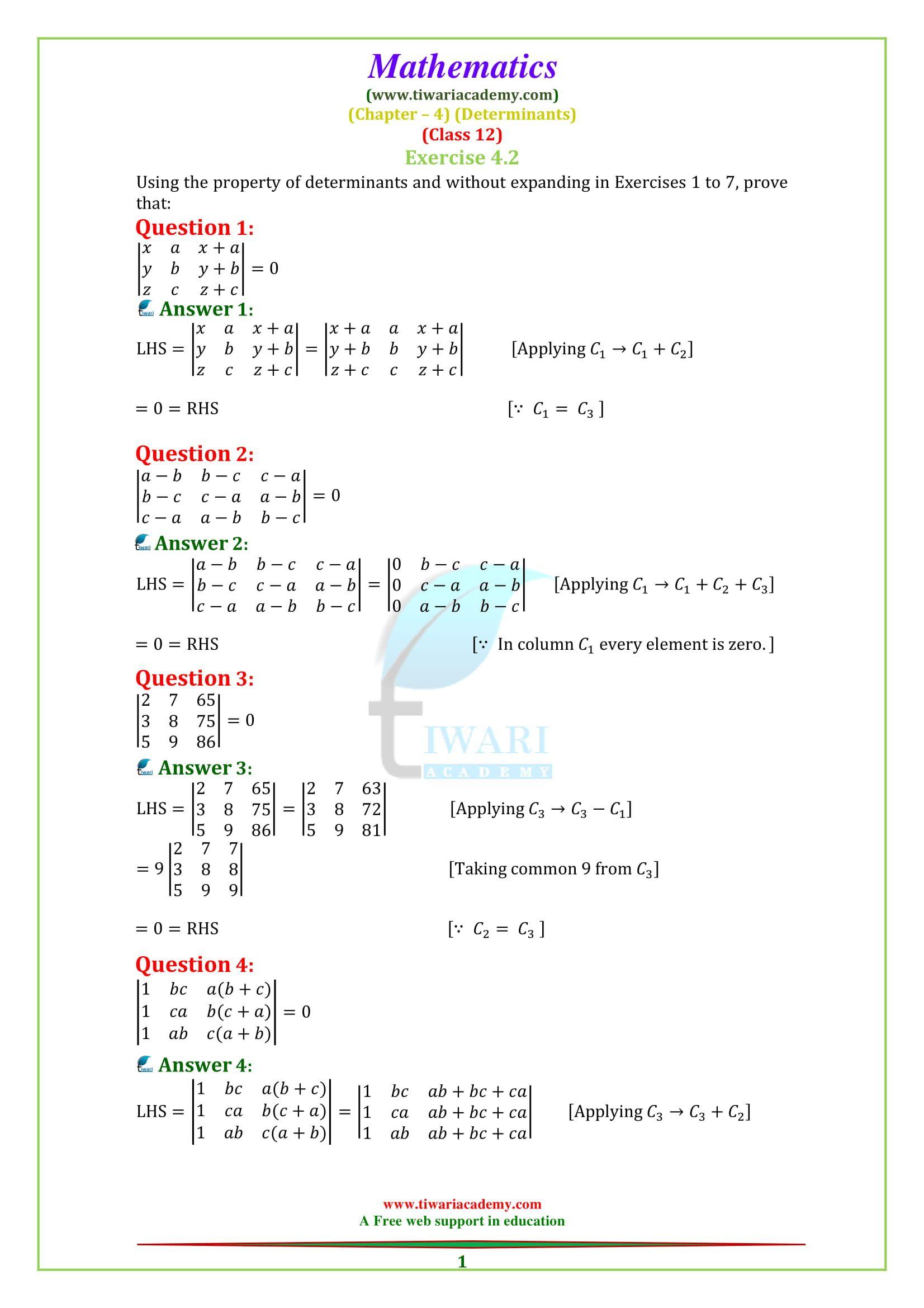 Determinants For Class 12 Class 12 Maths 12th Maths Math [ 2339 x 1653 Pixel ]
