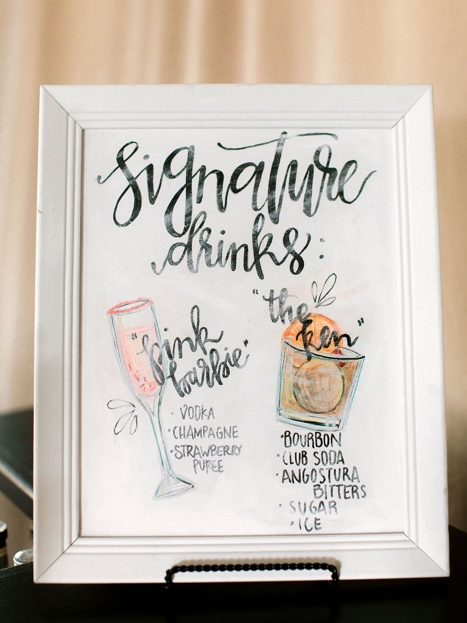Gorgeous Dallas Wedding With Outdoor Ceremony Ballroom Reception Inside Weddings Wedding Drink Sign Signature Wedding Drinks Sign Wedding Signature Drinks