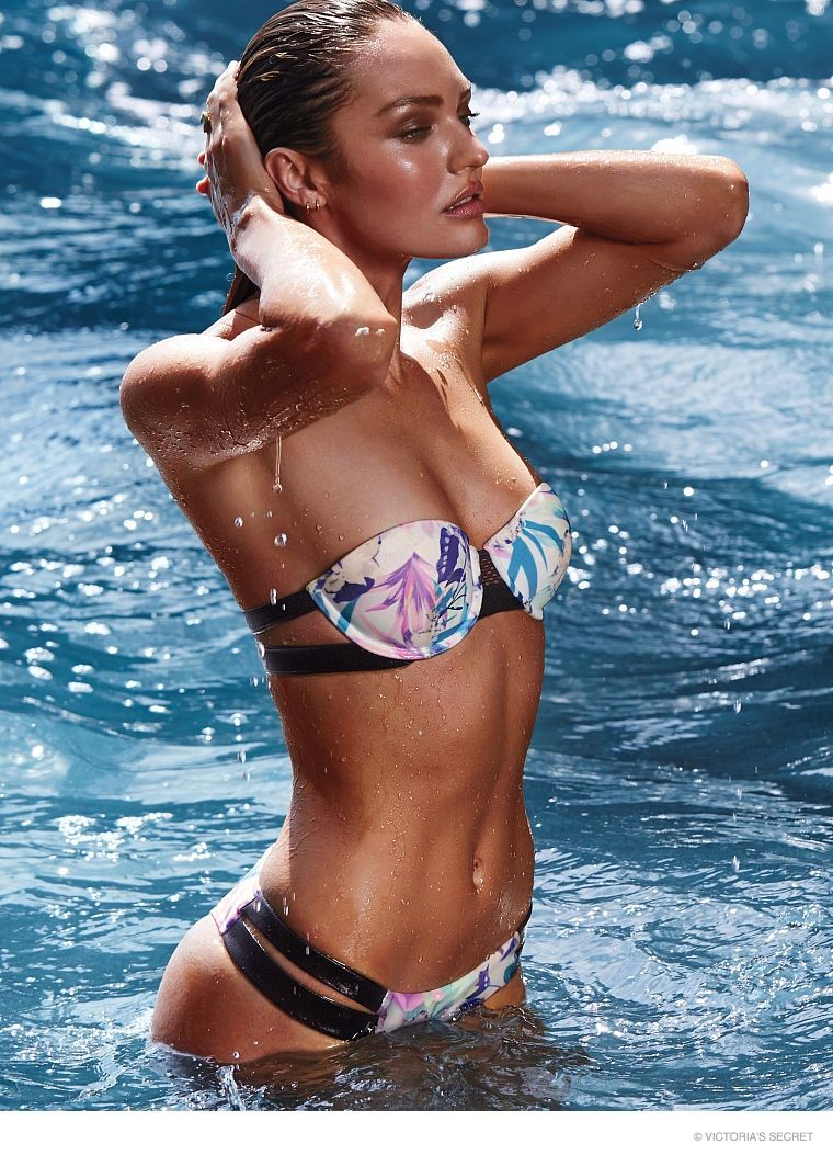 b38c5f3b26 Hot Swim! Candice Swanepoel Strips Down for Victoria's Secret Shoot ...