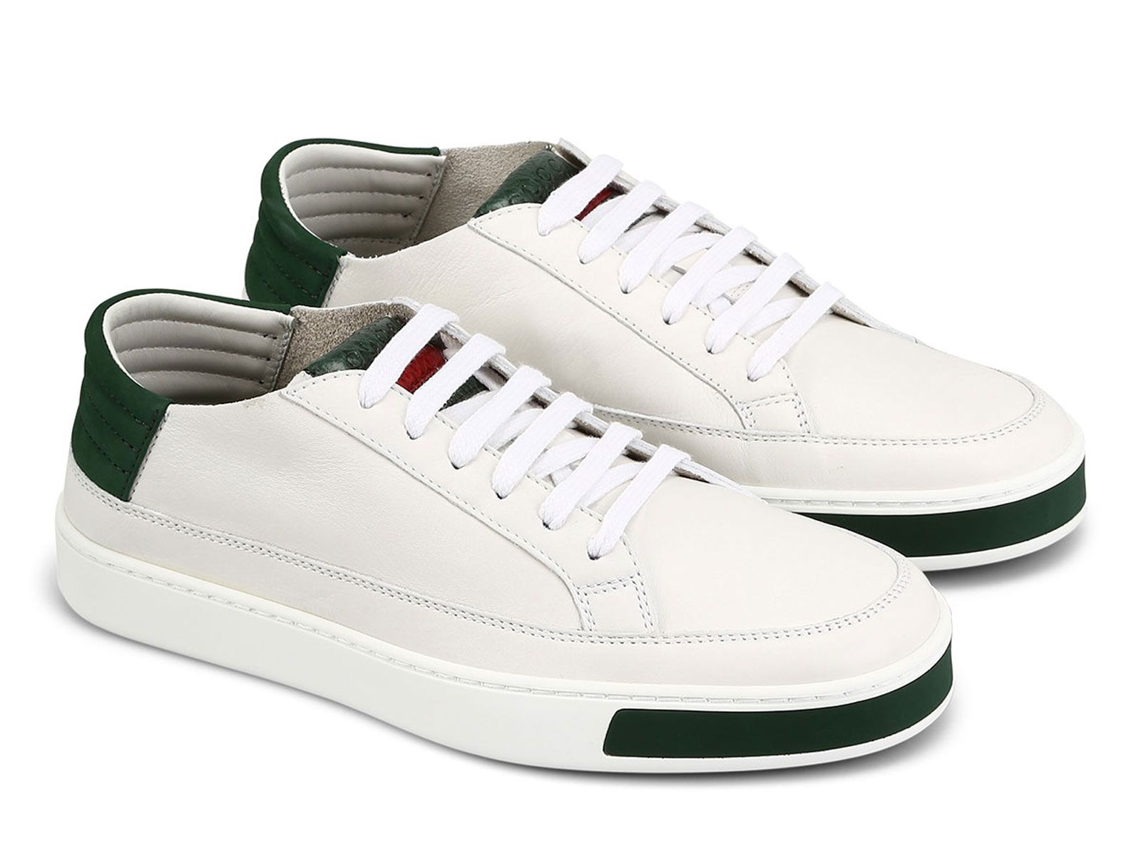 nuovi stili 402bb 51508 Gucci low top white leather and ayers snake sneakers - Italian ...