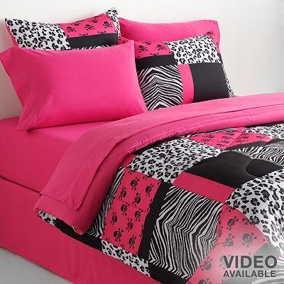 Veratex Skull Amp Animal Patchwork Reversible Comforter Set