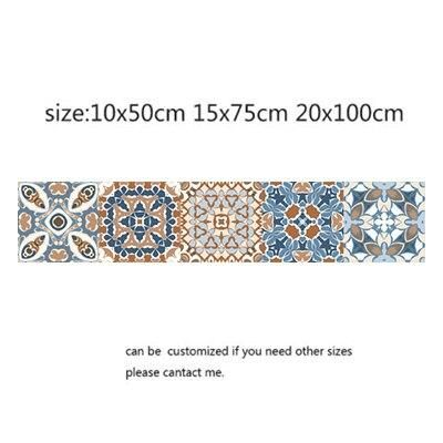 Photo of Arabic Style Mosaic Tile Stickers For Living Room Kitchen Retro 3D Waterproof Mural Decal Bathroom Decor DIY Adhesive Wallpaper – 10 / 20x100cm