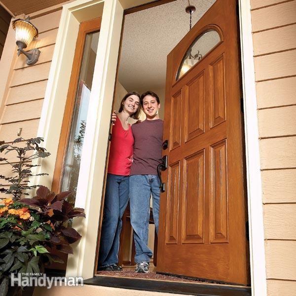 How to install a door real house exterior doors - How to hang a exterior prehung door ...