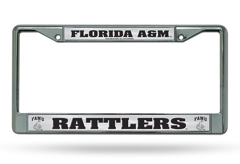Florida A&M FAMU Rattlers Chrome License Plate Frame | NCAA