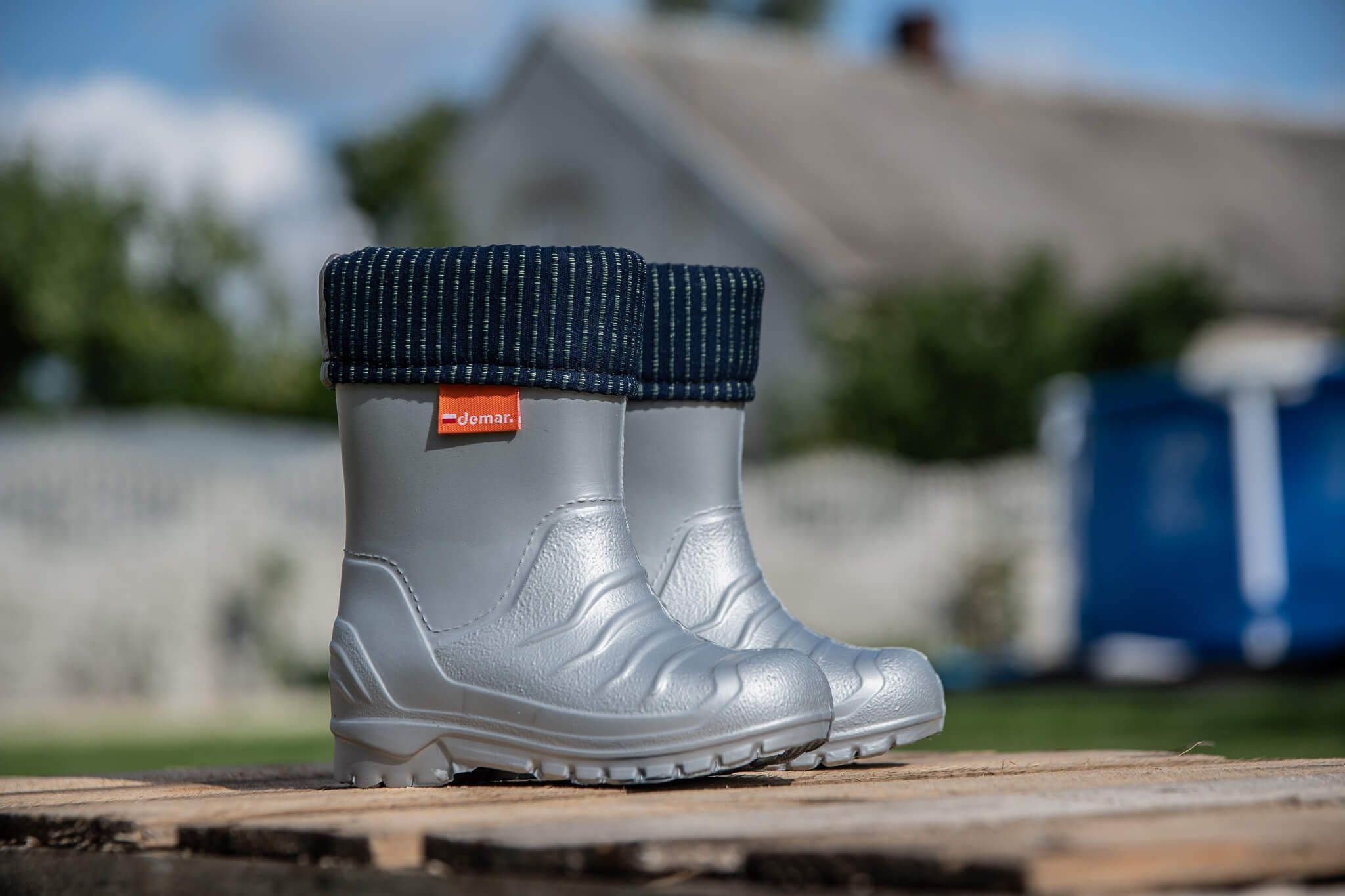 Kalosze Piankowe Dla Dzieci Szare Lekkie Pianka Demar Dino H Kids Wellies Small Shoes Uk Summer