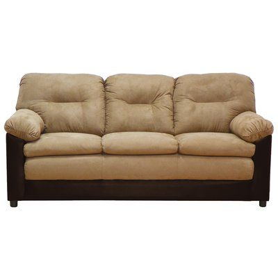 Piedmont Furniture Claire Sofa Upholstery Bulldozer Mocha / San - Cheap Black Furniture
