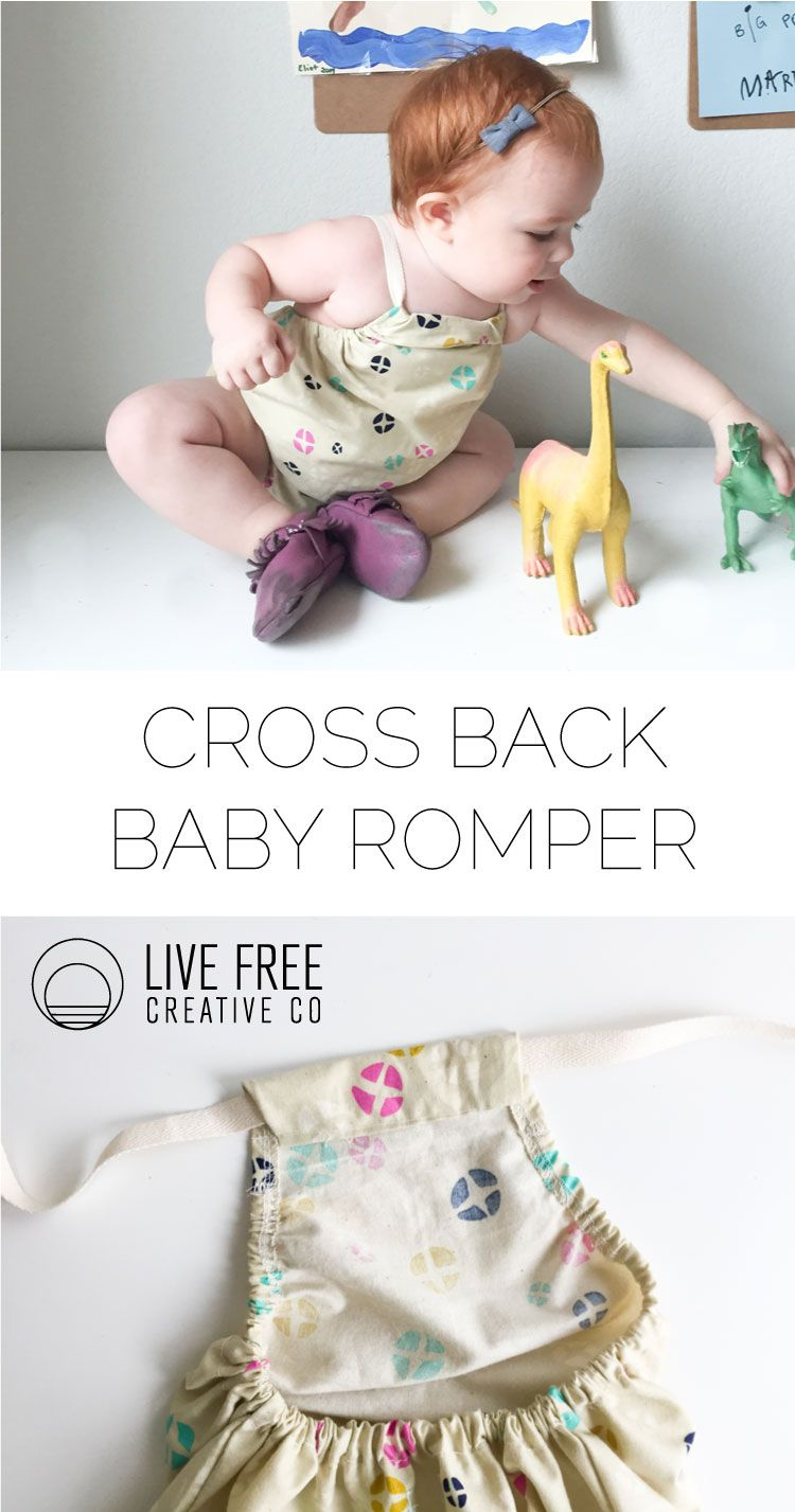 Cross Back Baby Romper Tutorial | NIÑOS | Pinterest | Costura, Ropa ...