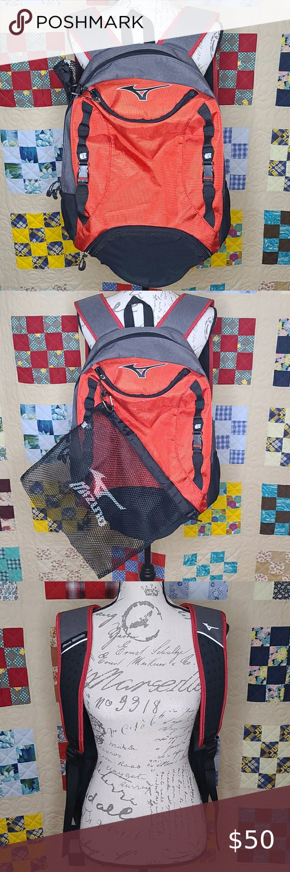 Mizuno Lightning Volleyball Backpack Never Used In 2020 Clothes Design Mizuno Designer Backpacks
