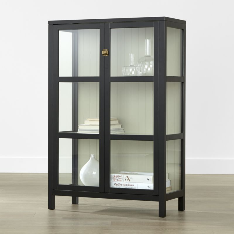 Display And Your Stuff In Style With Storage Cabinets From Crate Barrel