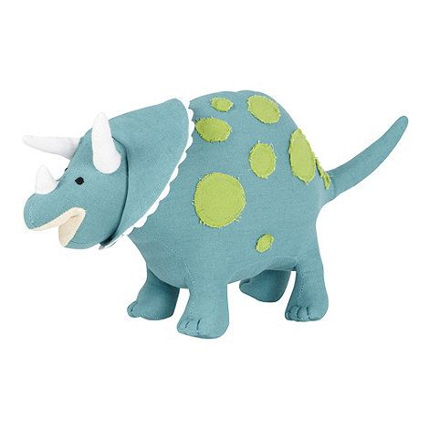 Bluezoo Children S Turquoise Stevie Triceratops Cushion