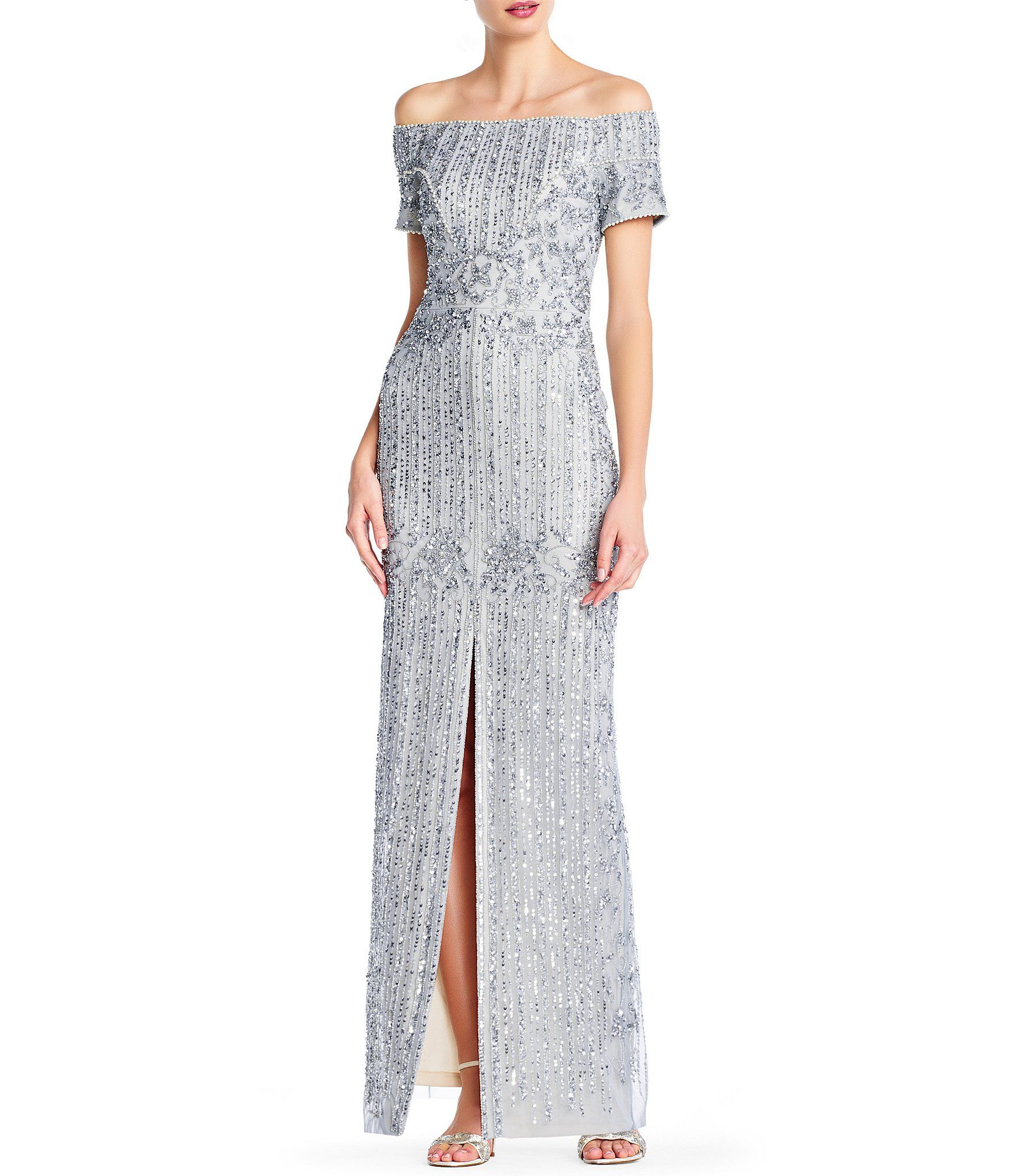 13+ Adrianna papell off the shoulder dress info
