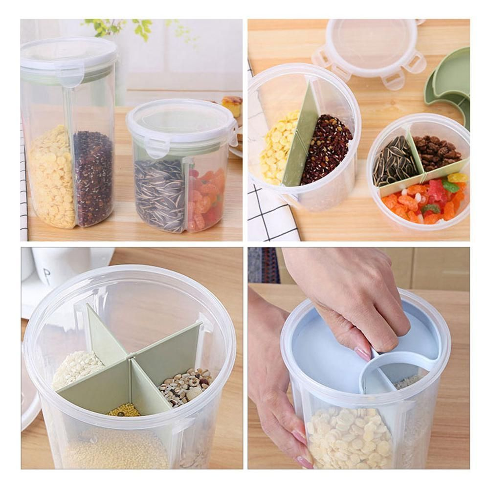 Home Cookware, Dining & Bar Supplies Food & Kitchen Storage Equipment Rotating Kitchen Food Storage Tank Dry Food Storage Containers Cereal Storage
