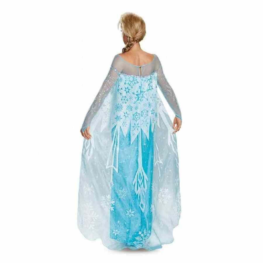 Elsa Prestige Disney Frozen Princess Fancy Dress Halloween Deluxe Adult Costume