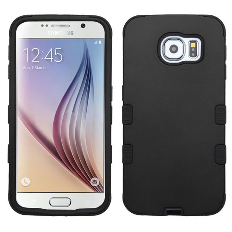Insten Tuff Hard PC/ Silicone Dual Layer Hybrid Rubberized Matte Phone Case Cover For Samsung Galaxy S6