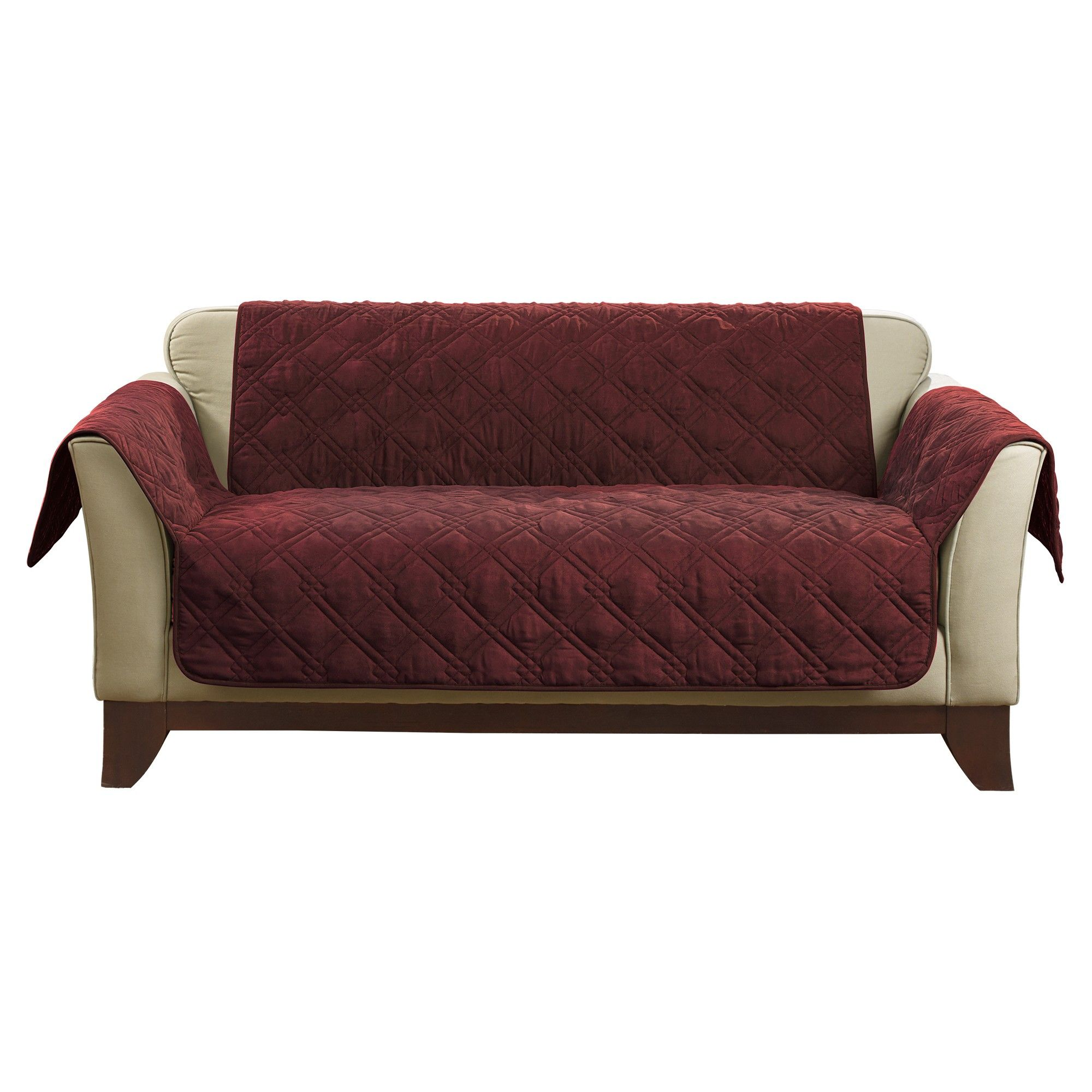 sure fit patio furniture covers. Wine Deluxe Non-Skid Waterproof Loveseat Furniture Cover - Sure Fit Patio Covers