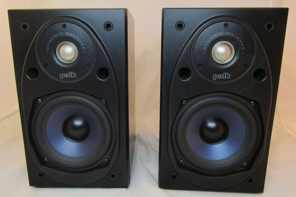 Pair Of Rt 25i Polk Audio Power Port 2 Way Bookshelf Speakers Black Cabinets Nr Polkaudio Speakers Studio Monitors Monitor Speakers Black Bookshelf