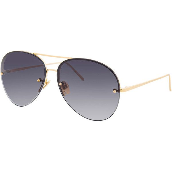 e65e3d28ec Linda Farrow Rimless Gradient Aviator Sunglasses ( 750) ❤ liked on Polyvore  featuring accessories