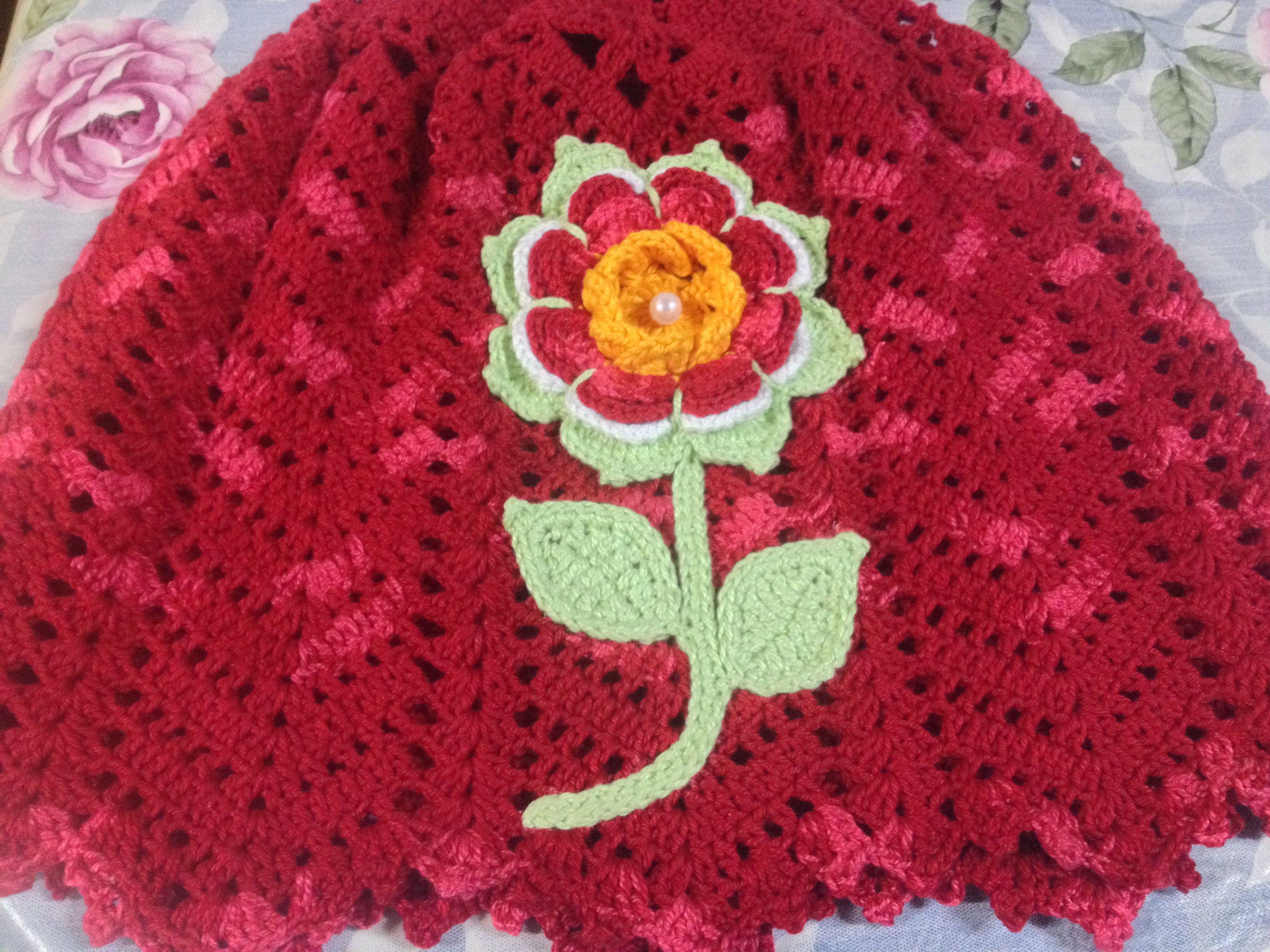 Capa de galão de água com flor