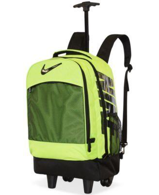 nike boysu0027 or girlsu0027 logo rolling backpack