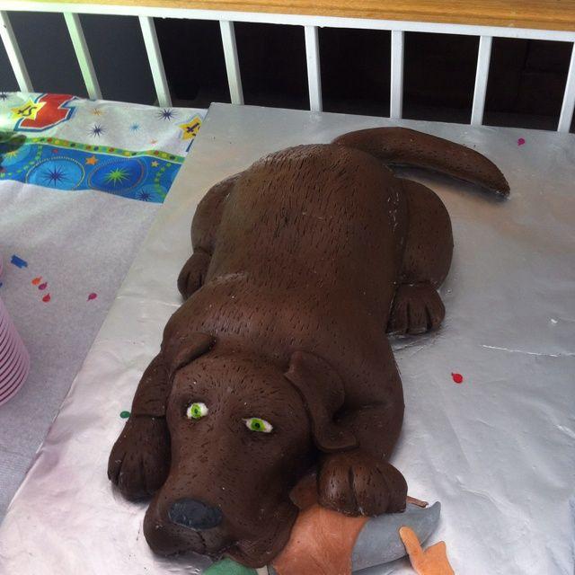 Birthday Cake Shaped Like A Dog