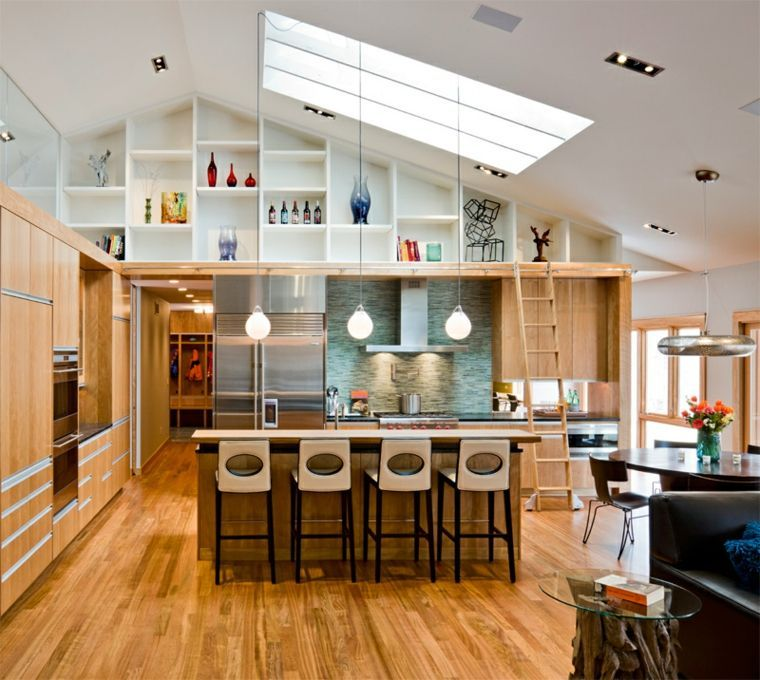 Modern L Shaped Kitchen With Island On 108 Gorgeous Photos With